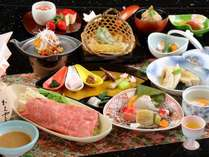 ブランド牛「神戸ビーフ」のしゃぶしゃぶメインの12品の和会席をご用意