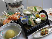 『ピリカ郷会席プラン』ずわい蟹すきコース(料理一例)