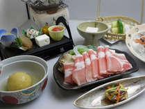 『ピリカ郷会席プラン』若松ポーク味しゃぶコース(料理一例)