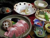 ピリカスタンダードプラン 夕食・若松ポーク肉陶板コース料理一例