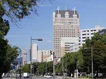23F建て 平和大通り沿いの高層ホテル