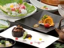 見た目にうっとり、食して感激♪当館自慢のお料理の数々をご堪能ください。(8/31までの料理イメージ)