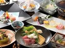 季節の移り変わりを楽しめる『四季懐石』旬の食材をご堪能ください(2018年2月28日までの料理イメージ)