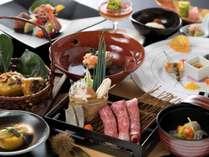 ブランド牛「佐賀牛」をメインに、一品一品に職人の技が光る懐石料理(9/1から11/30までの料理イメージ)