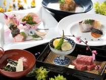 ブランド牛「佐賀牛」鉄板焼きをメインに、一品一品に職人の技が光る懐石料理(5/31までの料理イメージ)