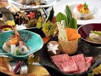 佐賀牛ロースの焼しゃぶをメインに、一品一品に職人の技が光る懐石料理(9/1から11/30までの料理イメージ)