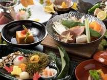 秋の旬をふんだんに盛り込んだ四季懐石。メインは佐賀有田鶏と牛蒡鍋(9/1から11/30までの料理イメージ)