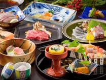 長崎県産牛、鯛のしゃぶしゃぶ、アワビなど、季節ごとに変わる味わい。島原の旨みを召し上がれ
