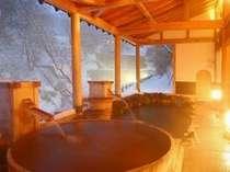 露天風呂「太子の湯」雪景色
