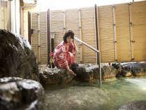 皆生温泉最古の岩風呂。源泉掛け流しの温泉で癒される♪