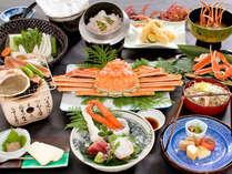 秋冬◆冬の味覚!特大ずわい蟹の姿盛りでたっぷりご堪能いただけるスペシャルメニュー「かに三昧会席」