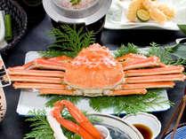 秋冬◆茹で特大ずわい蟹姿盛り<かに三昧会席>