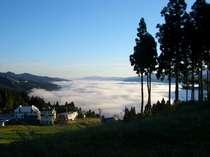 センターから望む秋の雲海
