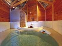 【貸切風呂棟】2009年7月誕生!木をふんだんに用いた温かみのある貸切半露天風呂