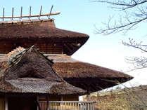 *【古代建築風離れ】(健部の郷の宮処-みやど)古代の王が暮らした宮殿を再現