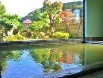 温泉につかりながら色づく庭園の紅葉をお楽しみください(撮影日10/26)