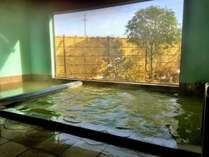 【男性大浴場】お庭を眺めながら冬の温泉満喫!(車椅子専用リフトも設置可能。別料金。要問)