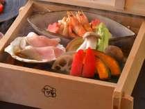 秋料理:【蒸篭蒸し】季節のお野菜