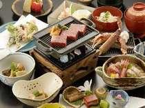 カニ海鮮付き福島牛ステーキ膳