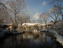 例年12月下旬~2月下旬ころは雪景色をお楽しみいただけます。