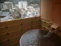 露天風呂付501号室湯村温泉街が一望できます