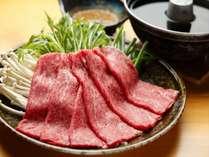 【夕食】飛騨牛しゃぶしゃぶ
