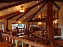 オーナーがイエローストーンで訪れたログハウスにインスピレーションを得て自ら設計建築
