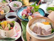 【スタンダード会席】厳選の山菜・川魚などを使用した旬菜会席。山里で過ごす癒しのひと時