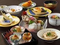 北海道食材を使用した9月~10月限定の北の味覚会席。2階和食堂「欅(けやき)」※イメージ