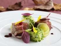 北海道食材を使用した9月~10月限定の北海道コース。1階フランス料理「クラウン」※イメージ