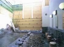 源泉がそのままかけ流される露天風呂