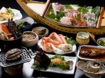 伊勢海老とあわび付きの夕食一例