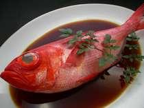 地元名産の金目鯛の姿煮
