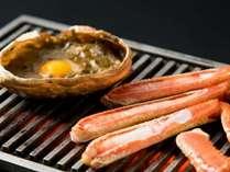 カニ味噌甲羅焼きと焼きガニ