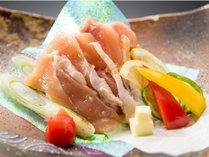 味が濃い大山鶏は陶板焼きでお召し上がりください
