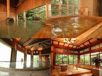 露天風呂や水晶・檜風呂など個性豊かなお風呂は16種☆四季折々の水上の美しい景色をご堪能ください☆
