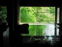 【牧水の湯】内風呂1カ所、露天風呂1カ所。サウナなし。