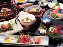 4月~9月「幸尽くし会席膳」海・川・地の幸を一度に♪赤城牛は三味でお楽しみ下さい。