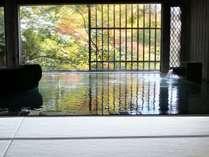 【牧水の湯】水上初の畳風呂がオープン!小さいお子様からお年寄りの方まで足元が滑りにくいと大好評です。