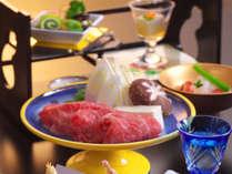 【和牛しゃぶしゃぶ】やさしい味わいの出汁がお肉を引き立てる。
