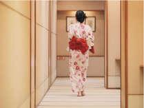温泉へと続く畳廊下。16湯めぐりを満喫しちゃおう★