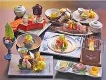 《上州牛or鮑》が選べる!!ずわい蟹もついてきます♪期間限定の和食膳です。