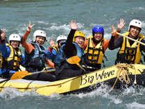 日本有数の激流体験ができる水上。ボートに乗って川を下るラフティング付プランは当館が断然お得!