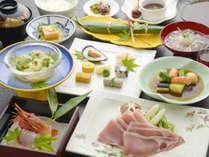 下仁田豚がメインの会席膳。リーズナブルでも旬の地元食材をしっかり堪能♪写真はイメージです。