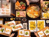 ★ディナーバイキングは品数豊富でボリューム満点!ライブキッチンでは天ぷらやお肉料理を出来立てご提供!