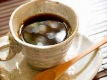 リピーターの方に人気!当館オリジナルの源泉コーヒー。ご朝食後にぜひどうぞ!