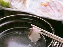 ぷりぷりの鯛をダシで楽しむ「鯛しゃぶ」@2000税別円で別注文でも承ります※画像は3名様盛り