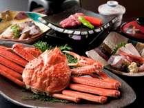 【北陸かにプランで人気第2位!】ずわい蟹の姿茹でやこだわり牛ステーキをお部屋食♪◆かにグルメ会席