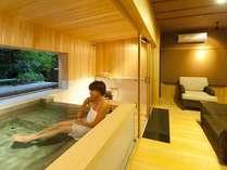源泉貸切風呂『和楽』。おいしい食事の後は、もう一度温泉へ。心も身体も満たされる贅沢な旅を!