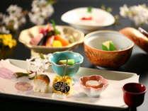 地元信州ならではの旬の食材をふんだんに。≪春≫の芽吹きを愉しむ料理の数々。